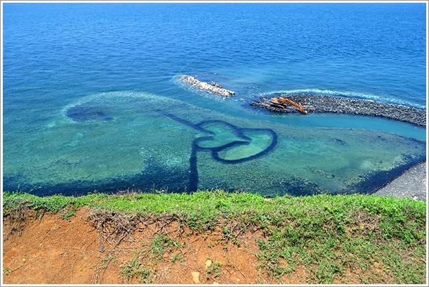 七美島 雙心石埠